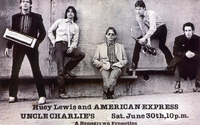 Huey Lewis and American Express, June 1979